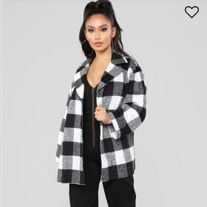 Fashion Nova checkered jacket